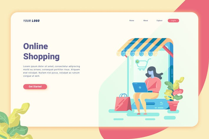 Cover Image For Online Shopping - Landing Page