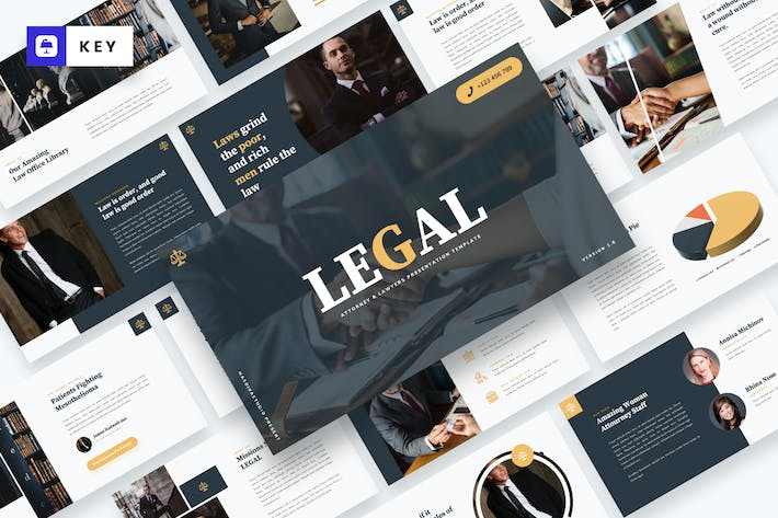 Thumbnail for LEGAL - Attourney & Lawyer Keynote Template