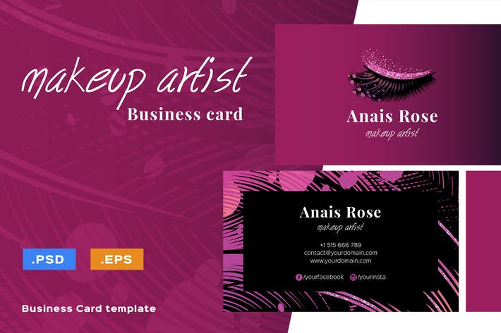 Thumbnail for Luxury Makeup Artist Business Card