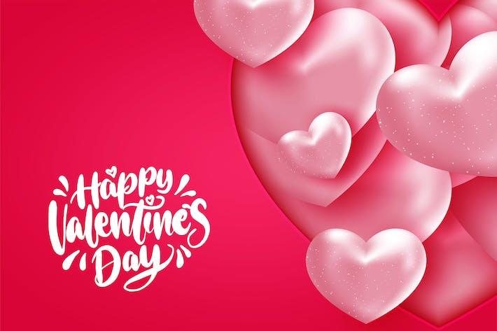 Romantische Valentine Hearts auf ro