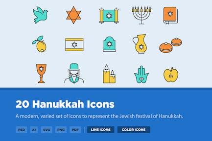 20 Hannukah Icons