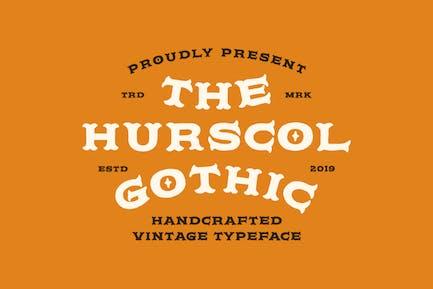 Hurscol Gothic Tipo de letra