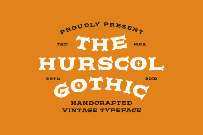 Thumbnail for Hurscol Gothic Typeface