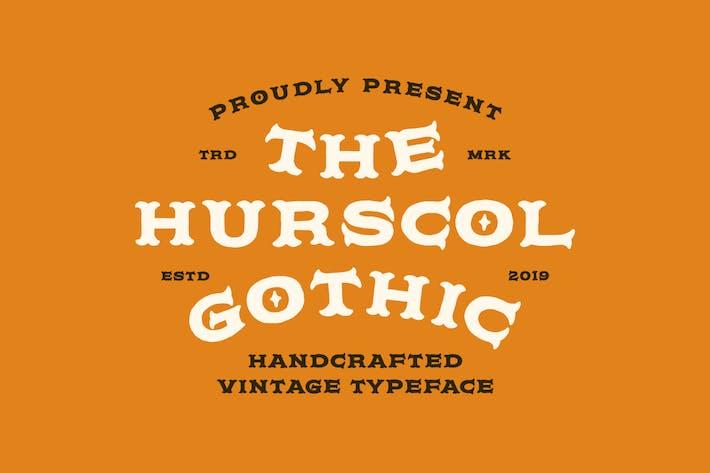 Hurscol Gothic Typeface