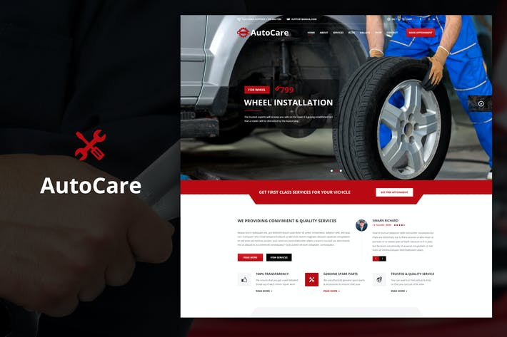 Thumbnail for Auto Care - Mécanicien automobile Drupal Thème