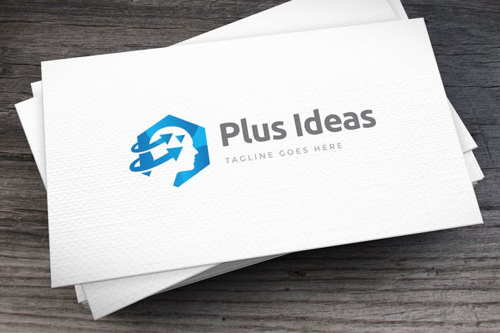 Thumbnail for Plus Ideas Logo Template