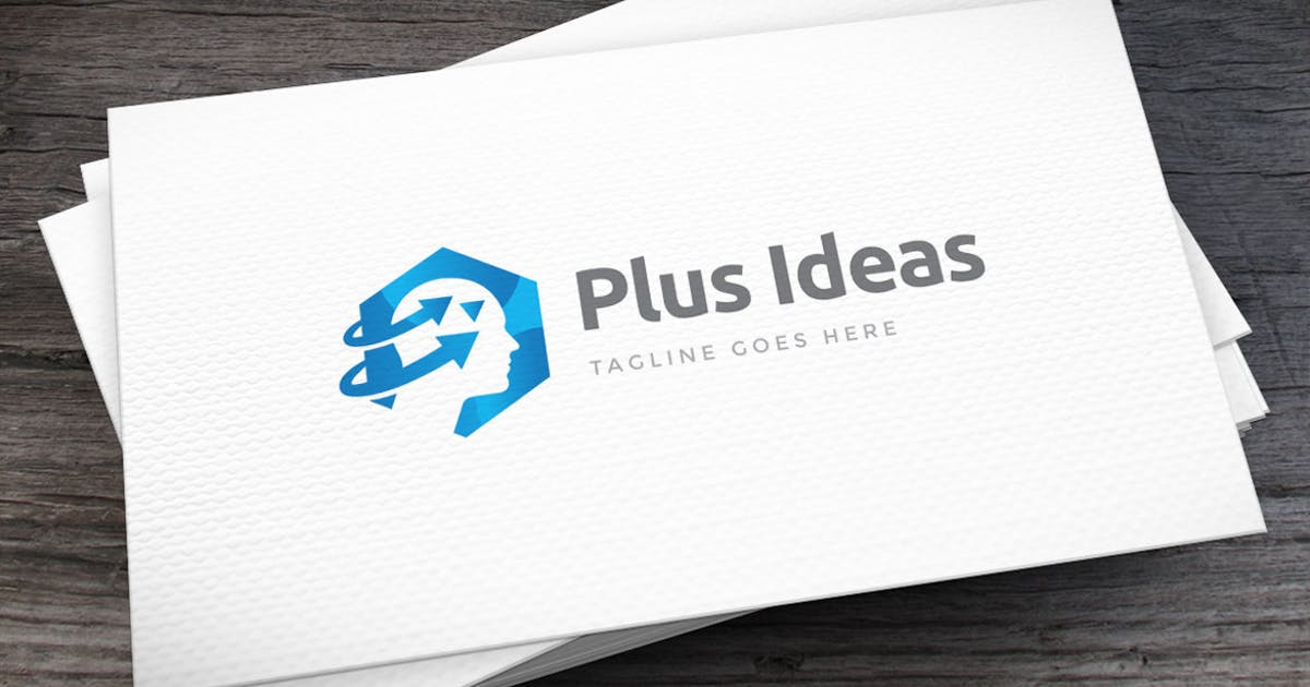 Plus Ideas Logo Template by empativo