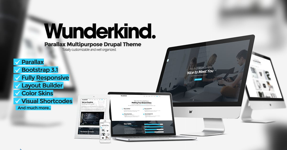 Download Wunderkind - One Page Parallax Drupal 7 Theme by NikaDevs