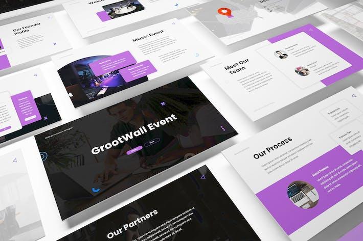 Thumbnail for Powerpoint-Vorlage für Ereignisorganisatoren