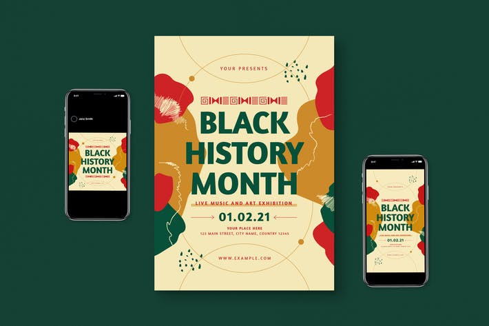 Black History Month Flyer Set