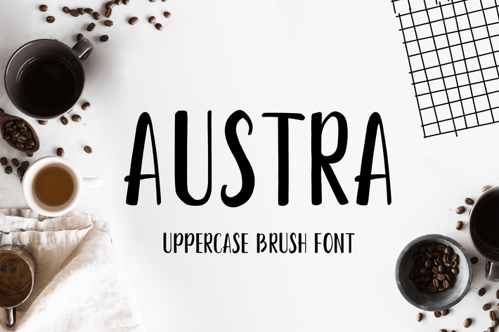 Thumbnail for Austra Uppercase Font
