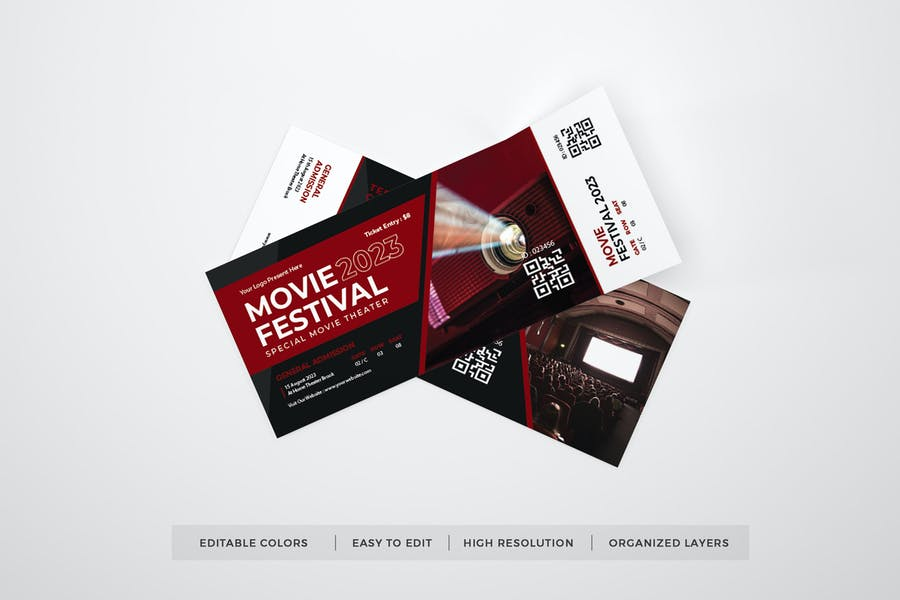 Movie Festival Ticket Template