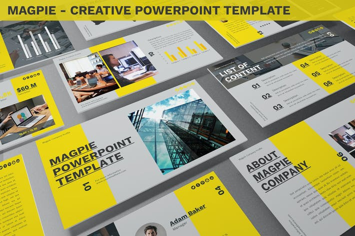 Cover Image For Magpie - Creative Powerpoint Template