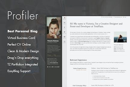 Profiler - Personal Blog Joomla Template