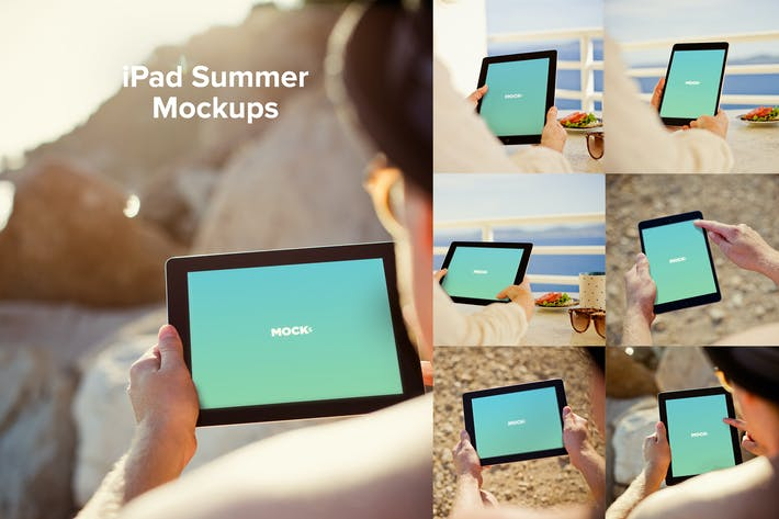 Cover Image For iPad Summer Mockups