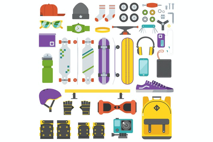 Thumbnail for Skateboarding Equipment and Gear Set