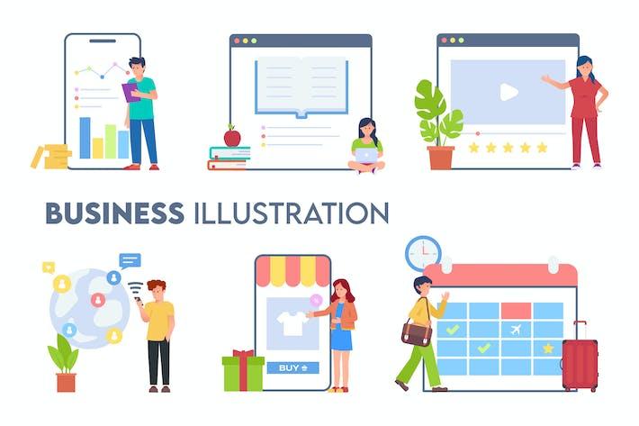 Business Hand Drawn