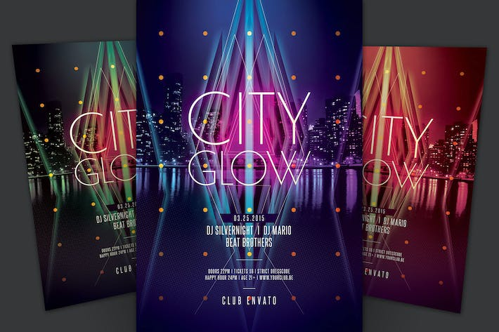Thumbnail for City Glow Flyer