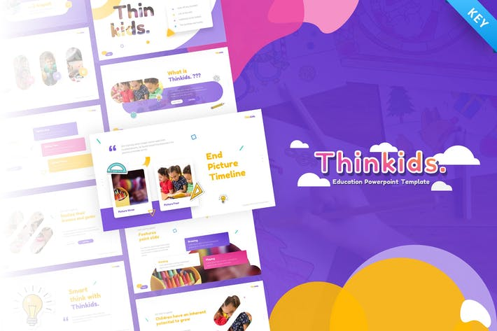Thumbnail for Thinkids - Забавные игры и образование Шаблон ключевых заKeynote