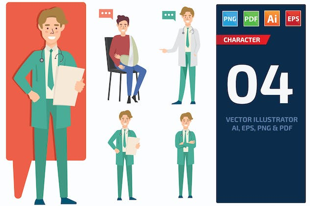 Doctor Character Set 2 - product preview 0