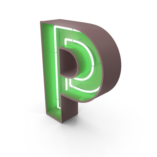 Неоновая буква P