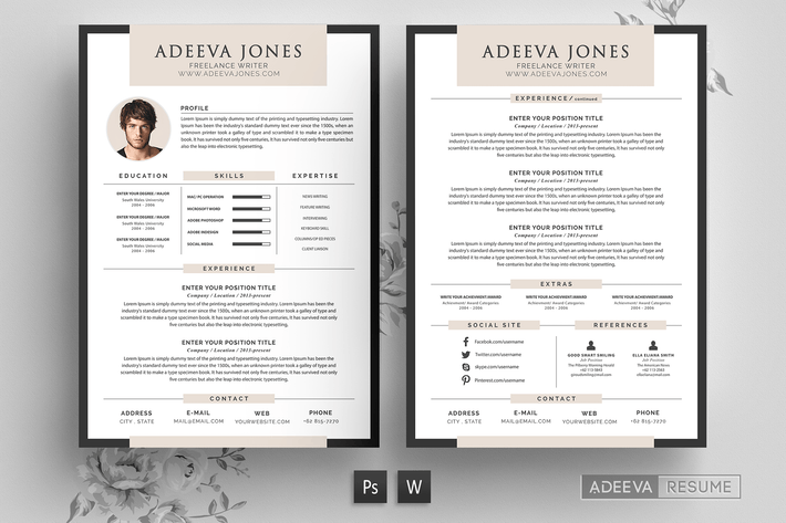 Professional Resume Template Jones