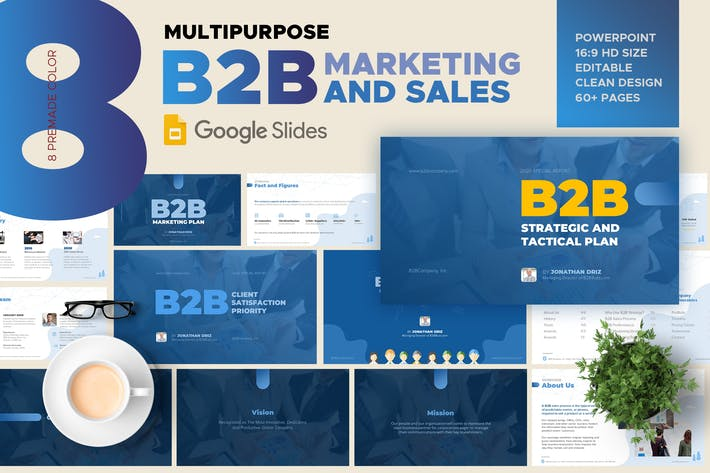 Thumbnail for B2B Marketing and Sales Google Slide