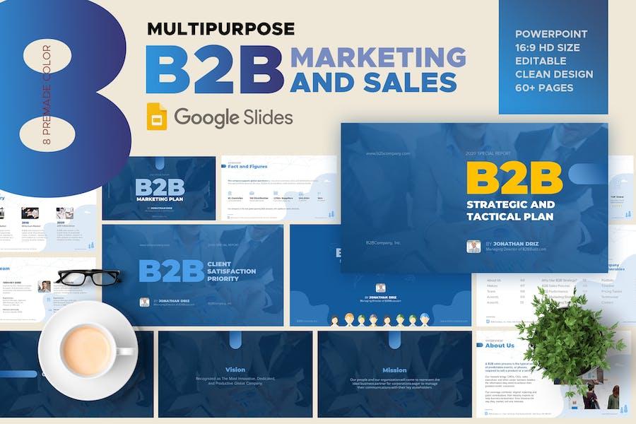 B2B Marketing and Sales Google Slide