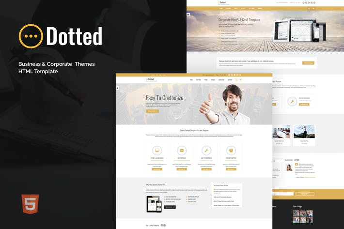 Thumbnail for Dotted - Business & Corporate HTML Template