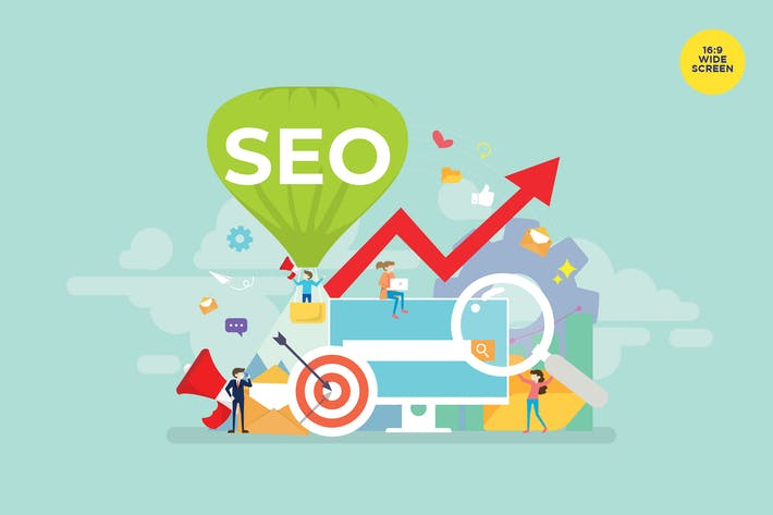 Cover Image For Search Engine Optimization Vector Concept
