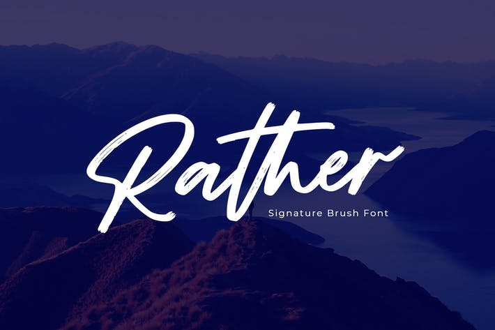 Rather - Brush Font