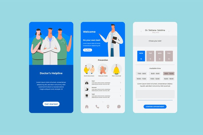 Thumbnail for Medical Booking App Concept
