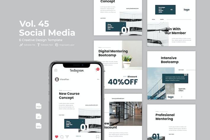 Business Social Media Kit. Vol 45