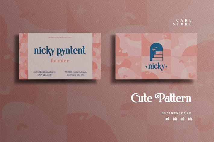 Thumbnail for Cute Pattern Theme - Fashion Businesscard