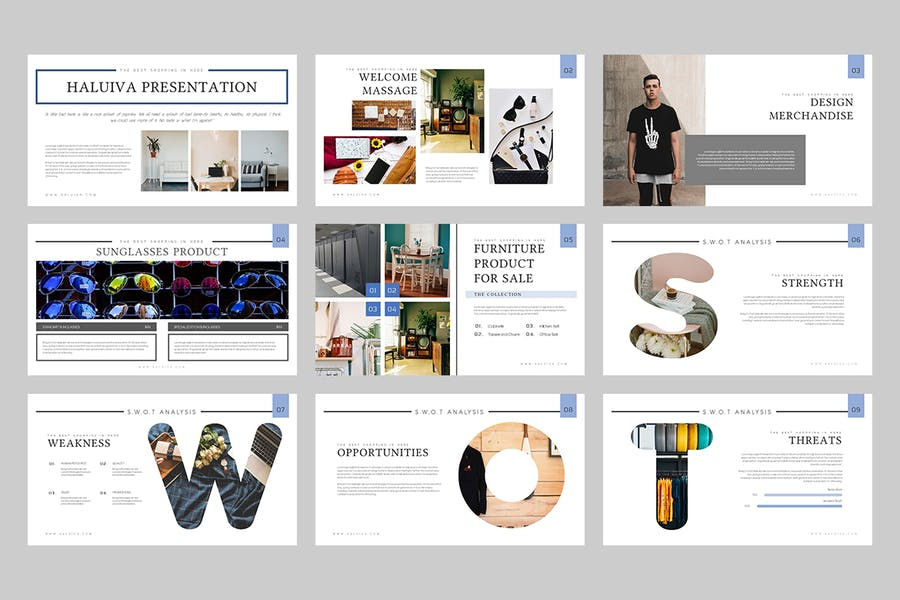 Haluiva : Pitch Deck Keynote Template