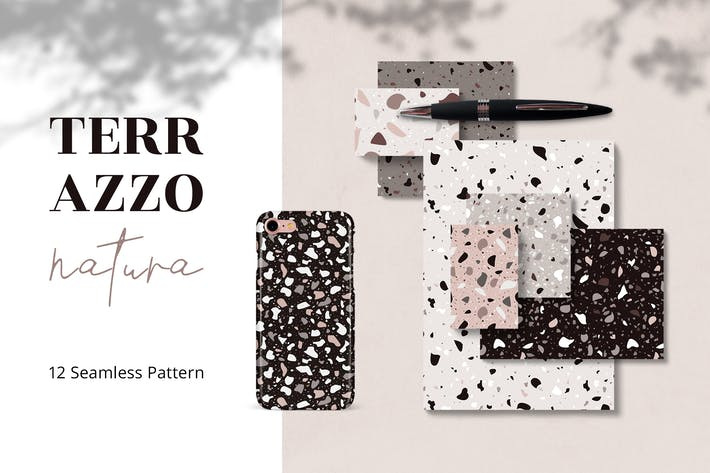Cover Image For TERRAZZO Natura Seamless Pattern