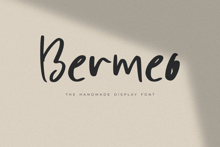 Thumbnail for Bermeo - The Handmade Display Font