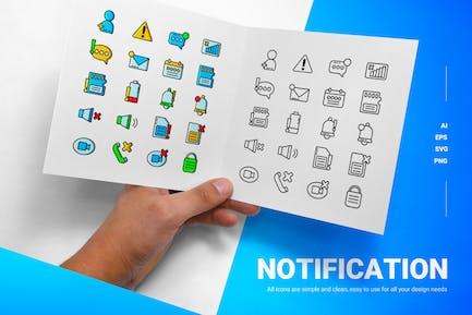 Benachrichtigung - Icons