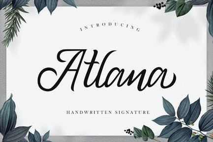 Atlana - Elegant Handwritten Script