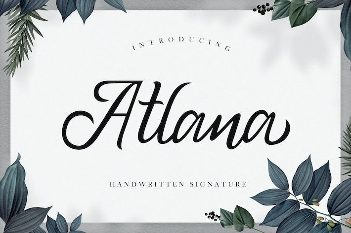 Thumbnail for Atlana - Elegant Handwritten Script