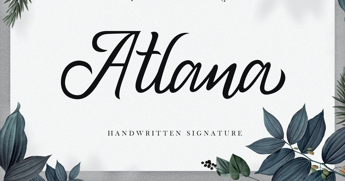 Download Atlana - Elegant Handwritten Script by naulicrea