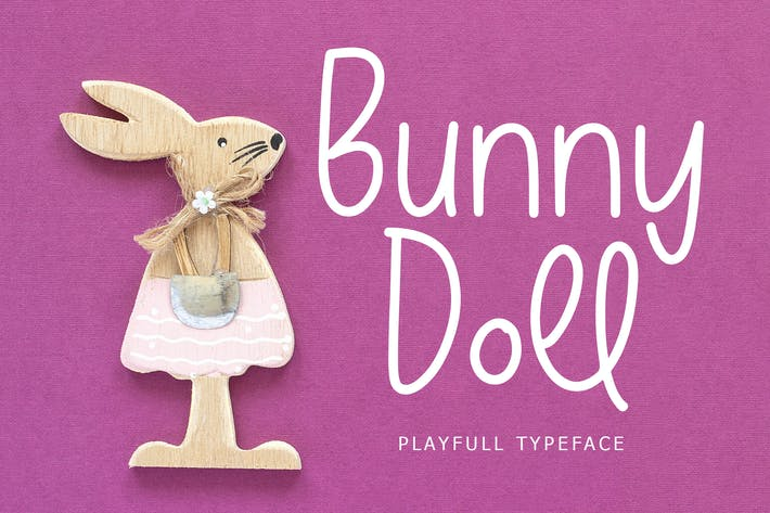 Thumbnail for Bunny Doll Playful Handwritten Font