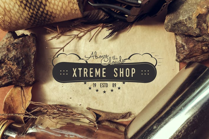 Thumbnail for Extreme Shop Vintage Logo / Sports Badge Design