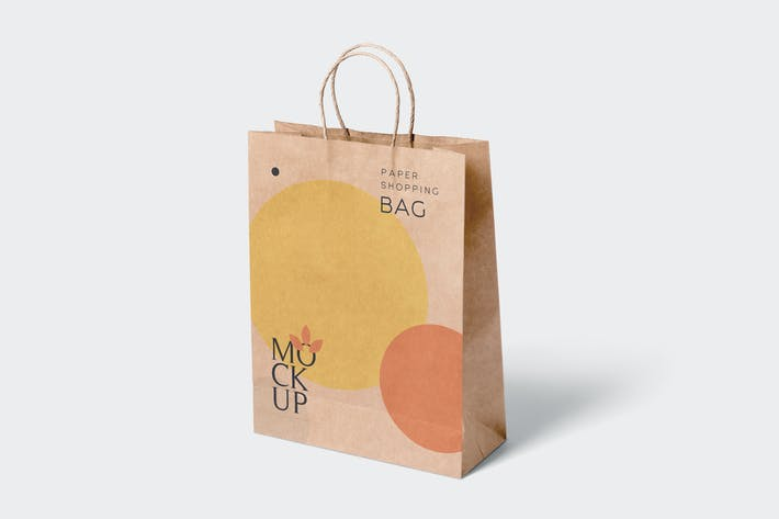 Thumbnail for 5 Paper Shopping Bag Mockups