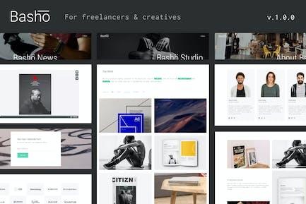 Basho - A Creative HTML5 Template for Freelancers