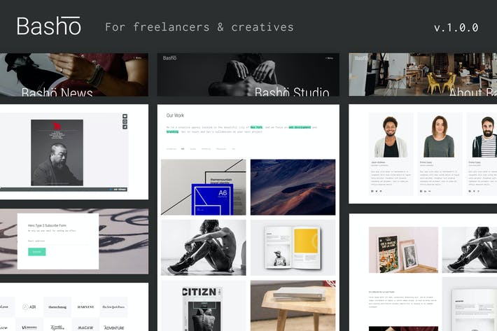 Thumbnail for Basho - A Creative HTML5 Template for Freelancers