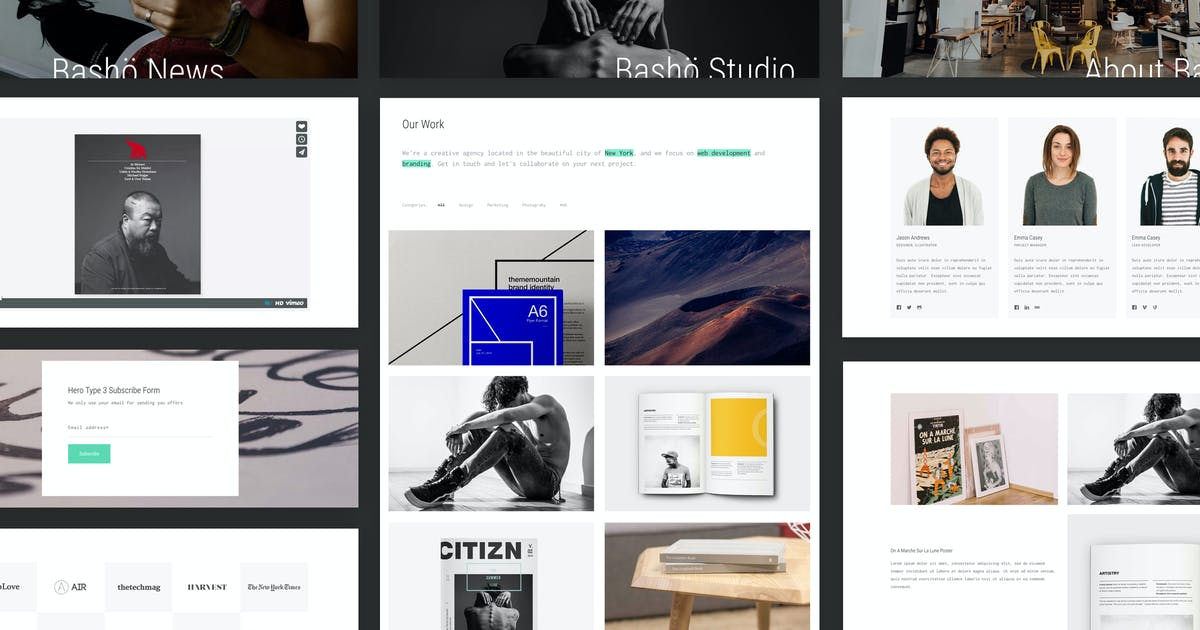 Download Basho - A Creative HTML5 Template for Freelancers by ThemeMountain