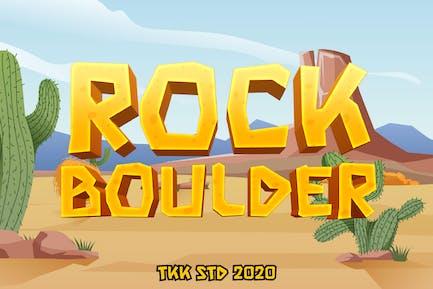 Rock Boulder - Gaming Font