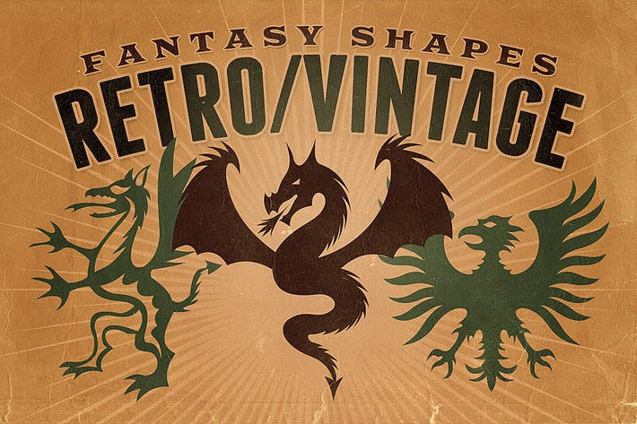 Thumbnail for Vintage shapes - Fantasy/Heraldry
