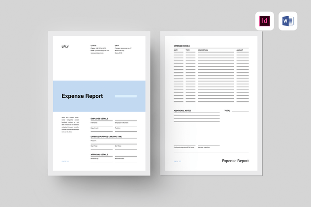 Expense Report - product preview 3